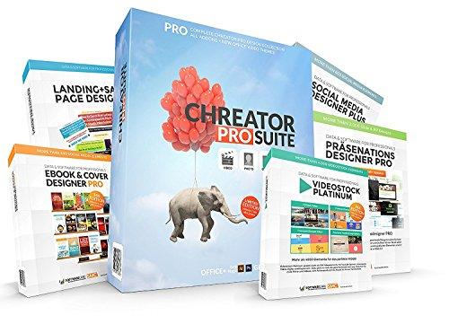 Preisvergleich Produktbild CHREATOR PRO SUITE – Das umfangreiche Grafik & Design Bundle für Webseiten,  Ebooks,  Landingpages,  Social Media Banner und Office Präsentationen