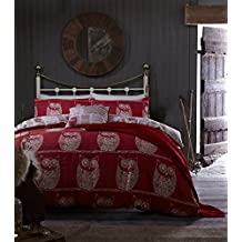 Catherine Lansfield A Wise Old colcha para cama individual Diseño de búho