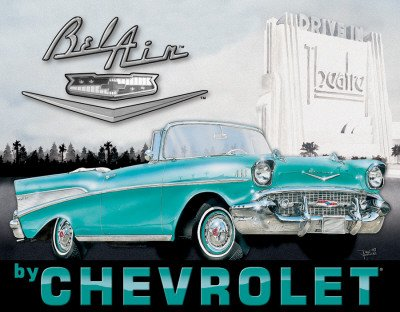 plaque-metal-bel-air-chevrolet-1957