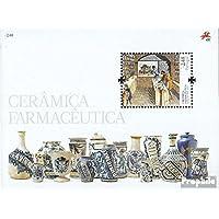 Portugal Bloque 273 (completa.edición.) 2008 Farmacéutica Keramikgefäße (sellos para los coleccionistas) Vidrio / Cerámica / Porcelana