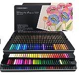 Set de crayons de couleur avec boîte en métal Couleurs uniques pour dessiner et carnet de coloriage pour adultes Kit idéal pour les artistes, les adultes et les enfants 120er Pack
