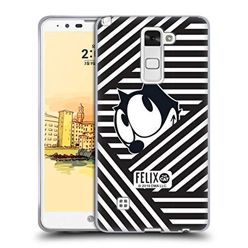 Head Case Designs Offizielle Felix The Cat Streifen Ikonische Kunst Soft Gel Huelle kompatibel mit LG Stylus 2 Str Stylus
