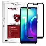 OMOTON Huawei Honor 10 Verre Trempé [Couvir l'écran Complèt] [sans Bulles] Film Protection- Protecteur Ecran Noir (5.84 Pouces)