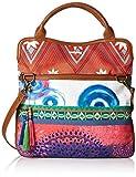Desigual Womens Cordoba Happy bazar Cross-Body Bag Borgona Claro