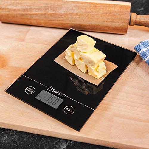 Savisto 5 kg b scula electr nica b scula de cocina digital for Bascula cocina profesional