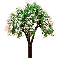 Lyanther Plantas Miniatura Árbol de Hadas Ornamento de jardín Decoración de pote 1 Pieza Árbol Feliz