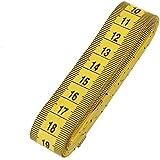 veewon 3m/120-Inch double-scale suave cinta métrica costura regla flexible, color amarillo