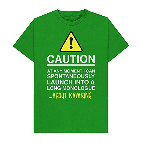 Caution - at Any Moment I Can Monologue About. Kayaking - Hobbies - Tshirt - Shaw T-Shirts - Sizes Small to 2XL