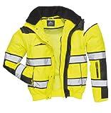 4in1 Warnschutzjacke Regenjacke Winterjacke Arbeitsjacke gelb Gr. XXL