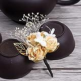 KHSKX-*Natürliche Chemische Rot - Lila Blauen Perle Blume Pollen Champagner Haarnadel Koreanische Liebliche Blüte Fee Sen Weibliche Braut Haar - Accessoires HaarnadelF