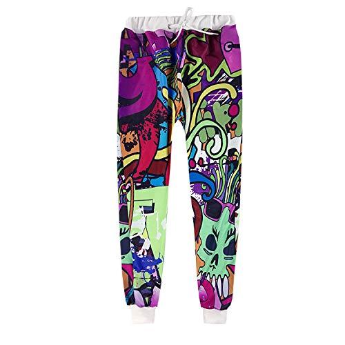 Parejas Hip-Hop Dibujos Animados Expresión Emoji Jogger Unisex Ocio  Divertido Hip Hop Pantalones de dacc26891e99