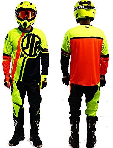 Kinder-Outfit 5-6 Jahre Moto Cross Quad MTB BMX Hose Handschuhe Neon Gelb Orange JLP Racing Größe 22 US/M