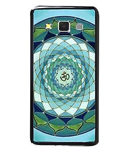PrintVisa Designer Back Case Cover for Samsung Galaxy A5 (2015) :: Samsung Galaxy A5 Duos (2015) :: Samsung Galaxy A5 A500F A500Fu A500M A500Y A500Yz A500F1/A500K/A500S A500Fq A500F/Ds A500G/Ds A500H/Ds A500M/Ds A5000 (Om Spiritual Design In Blue)