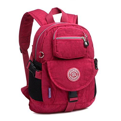 Tiny Chou Sport-Rucksack aus wasserdichtem Nylon, Casual und Leicht, robuster Alltagsrucksack, rot (rot) - 8620js -