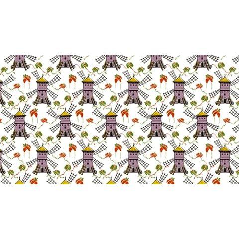 Papel pintado con diseño de Berlín - papel tapiz bajo petición - con diseño de papel pintado de - Kitchen - Old style - de colour amarillo y no 4058 molinos de viento