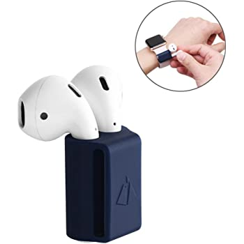 Supporto per Airpods, custodia in silicone anti-perso AirPods niceEshop (TM), supporto in silicone antiurto portatile per Apple Airpods (blu)