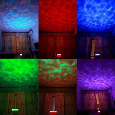 Ozean Meer LED Nachtlicht Abendlicht & Lautsprecher Mood Schlaf Licht Musik NEU von Longskft bei Lampenhans.de