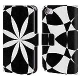 Head Case Designs Offizielle PLdesign Schwarz Und Weiss Geometrisch Brieftasche Handyhülle aus Leder für iPhone 4 / iPhone 4S