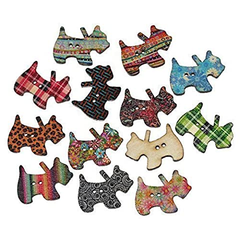 The Bead and Button Box - 20 Scottie Dog Wood