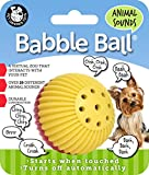 Pet Qwerks Animal Sound Babble Ball Interactive Toys - Flashing Motion Activated Electronic Talking Ball, Treat Toy that Makes Animal Noises - Avoids Boredom & Keeps Active | For Small Dogs & Puppies