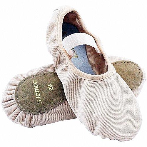 (s.lemon Elastische Canvas Volle Sohle Ballettschuhe Tanzschuhe Ballett Hausschuhe für Mädchen Kinder Kinder Kleinkinder In Verschiedenen Größen(22 EU))