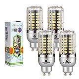 GreenSun - Lote de bombillas LED de bajo consumo, SMD 5736, corriente alterna 85-265 V, 4 unidades, color blanco, 5W Warmesweiß, GU10, 5.00 wattsW