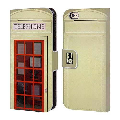 Head Case Designs Sommet J'aime Londres Étui Coque De Livre En Cuir Pour Apple iPhone 6 Plus / 6s Plus K3