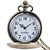 YISUYA Vintage Bronze Doctor Who Retro Dr Who Pocket Watch with Chain Mens Boys Necklace Pendant Gift Box Bild 3