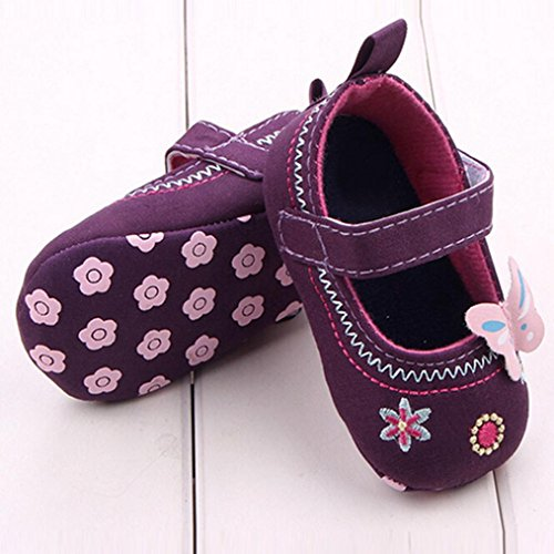 Omiky® Mode Baby Schuhe Schmetterling Soft Sole Kleinkind Schuhe Lila