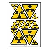 Tabla en formato A4de vinilos cortados sobre fondo blanco. La tabla incluye:-4Pegatinas Triángulo de 11cm de base y 10cm de altura-5Pegatinas Triángulo de 5,5cm de base y 5cm de altura-4Pegatinas Triángulo de 4,4cm de base y 4cm de al...