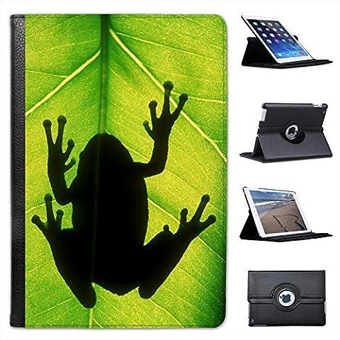 Rane Custodia a Libro in finta pelle con funzione di supporto per i modelli Apple iPad nero Gray Tree frog Silhouette iPad Mini / Retina