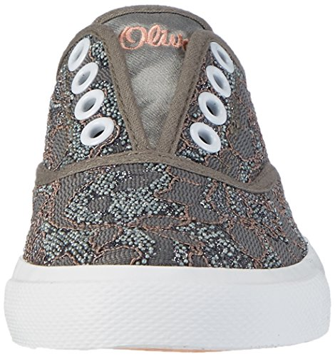 s.Oliver 44105, Sneakers Basses Fille Gris (GREY 200)