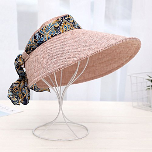Znzbzt Summer Sun Hats Hats, Foldable Hat Riding Sun Hat, Adjustable, Raw Pink