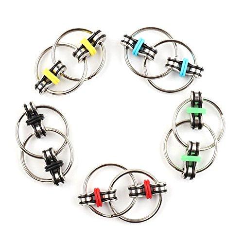 ERHU Multifunktions-Flippy Kette Zappeln Spielzeug - perfekt für ADHS, Angst und Autismus - Fahrrad Kette Zappeln Stress Reducer für Erwachsene und Kinder (Grün)