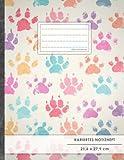 """Kariertes Notizbuch • A4-Format, 100+ Seiten, Soft Cover, Register, Mit Rand, """"Hundepfoten"""" • Original #GoodMemos Quad Ruled Notebook • Perfekt als Tagebuch, Skizzenbuch, Notizheft, Matheheft"""