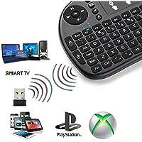 Mini Teclado Inalambrico con Touchpad NO Bluetooth para Smart TV PC Tablet Negro