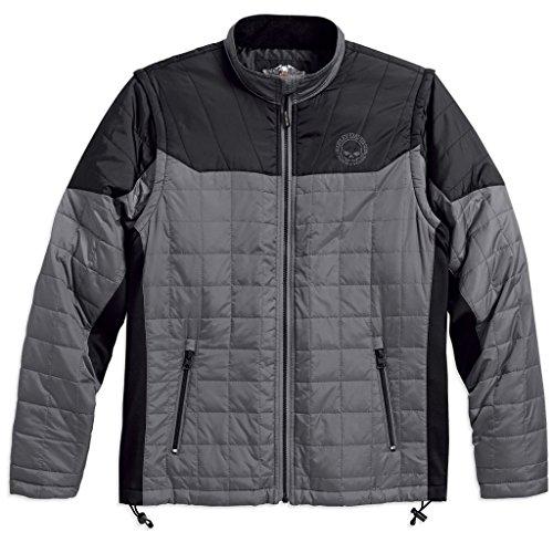 Mens Convertible Jacket (Harley Davidson® Men's Convertible Packable Mid-Layer Jacket - 98582-17VM (XL))