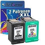 PlatinumSerie® Set 2x Druckerpatrone für HP 337 XL HP 343 XL Officejet 6310 6310 6315 H470 Pro K7100