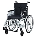 "EC Odyssey folding self propel Wheelchair with full suspension (18"" Seat Width (standard size), White)"