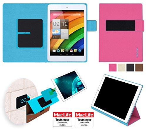 reboon Hülle für Acer Iconia A1-830 Tasche Cover Case Bumper | in Pink | Testsieger (Acer Für Iconia Cover A1)