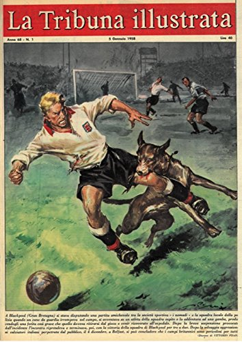 """A Blackpool (Gran Bretagna) si stava disputando una partita amichevole tra la societa' sportiva """"i nomadi"""" e la squadra locale della polizia quando un cane da guardia irrompeva nel campo, si avventava su un atleta della squadra ospite e lo addentava ad una gamba...Dopo la selvaggia aggressione ai calciatori italiani perpetrata dal pubblico, il 4 dicembre, a Belfast, si puo' concludere che i campi britannici sono pericolosi per tutti."""