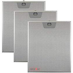 Kit 3 pièces. Filtres aluminium pour hottes Faber 253 x 300 x 8 mm