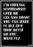 Wizbit arte e design Oasis poster/stampa/Billboard/Gig-Supersonic lyrics A4(8.3'x11.7')