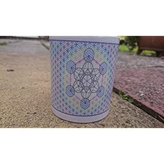 Metatron Cube Mug, Flower of Life Sacred Geometry Mug, Exclusive Design