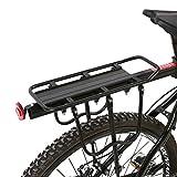 GOTOTOP Aluminium Fahrrad-Gepäckträger Rear Seat Gepäckträger Reitstock Radfahren Zubehör schwarz