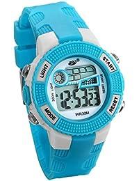6e59a4f834c7 JewelryWe Relojes para Niños Niñas Reloj Deportivo Digital Para Aire Libre  Reloj Infantil Azul