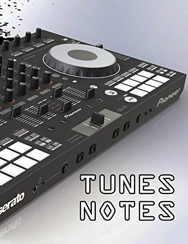 """DJ SHOW NOTES - SET LISTS Notepad - Lined Page Journal 8\"""" x11\"""""""