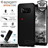 Coque Galaxy S8, Spigen® [Liquid Air] Soft [Noir] Premium Flexible Soft TPU Coque pour Samsung Galaxy S8 (2017) - (565CS21611)