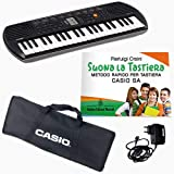 """Kit Pianola Tastiera Casio SA 77, Borsa CASIO, Alimentatore, Metodo""""Suona la Tastiera"""""""