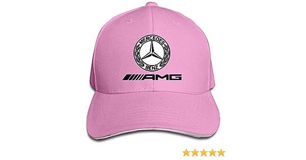 Obaeson K-Fly2 Unisex Adjustable Mercedes AMG Logo Baseball Caps Hat One Size Pink